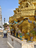 Hell gemalte Ikonen - Royal Palace Thailand Stockbilder