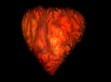 Hell heart. Abstract red hell heart for you royalty free illustration