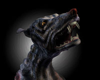 Hell Hound Howling - With Clipping Path Royalty Free Stock Images