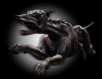 Hell Hound Running - with clipping path Royalty Free Stock Images