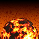 Magma Ball. Very hot fireball magmatic planet Royalty Free Stock Photography
