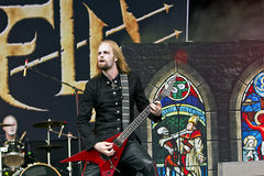 Hell (metal band). Hell on Masters of Rock 2012 Royalty Free Stock Image