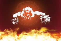 Hell. My art of the game DOOM 3 Stock Images
