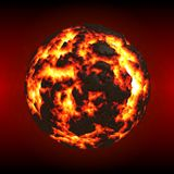 Hell - Magmatic Planet Stock Image