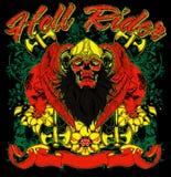 Hell rider. Illustration vector format Royalty Free Stock Photo