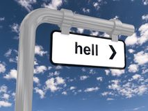 Hell road sign Royalty Free Stock Images
