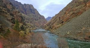 Hell's Canyon. Idaho's grand canyon on the Snake River Royalty Free Stock Photography