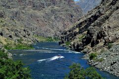 Free Hell`s Canyon Snake River Visitor Center Tour Boat Stock Images - 195944244