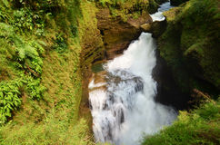 Hell's Falls or Devil waterfall at Pokhara in Annapurna Valley Royalty Free Stock Photos