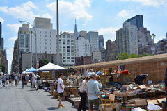 Hell's kitchen flea market Royalty Free Stock Image