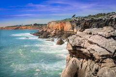 The Hell's Mouth chasm located in Cascais. It is located by the Royalty Free Stock Photography