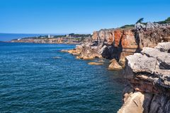 Hell`s Mouth chasm. Popular landmark of Portugal Royalty Free Stock Image