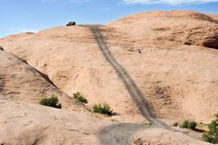 Hells Revenge at Moab Utah Stock Photos