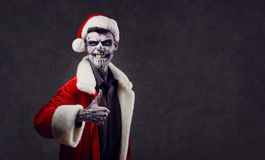 Hell Santa Claus on Christmas. Santa Claus Halloween Stock Photography