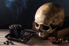 Hell smoke coffee Stock Photos