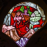 Hell Stained Glass Window De Krijtberg Church Amsterdam Netherlands Royalty Free Stock Image