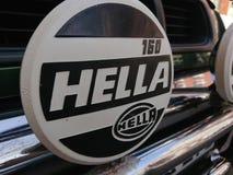 Hella 160驾驶的灯标志 免版税图库摄影