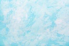 Hellblaue abstrakte Beschaffenheit der alten Gipswand Lizenzfreie Stockfotografie