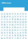 Hellblaue Büroikonen für Website lizenzfreie abbildung