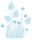 Hellblaue Blumenverzierung stockbilder