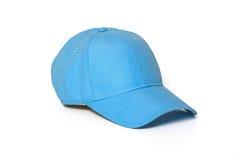 Hellblaue erwachsene Golf- oder Baseballmütze Lizenzfreie Stockfotos