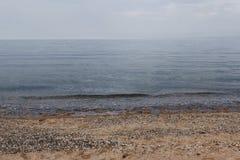 Hellblaue Farbe der Seeseite lizenzfreie stockfotos