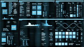 Hellblaue futuristische Schnittstelle/Digital screen/HUD lizenzfreie abbildung