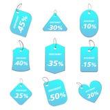 Hellblaue Marken - Rabatt Stockfotografie