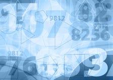 Hellblaue Zahlauslegung Lizenzfreie Stockfotos