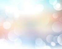 Hellblauer abstrakter bokeh Unschärfehintergrund Lizenzfreies Stockbild