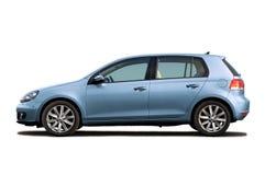 Hellblauer Hatchback lizenzfreies stockfoto