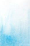 Hellblauer Hintergrund des abstrakten Aquarells Stockbilder