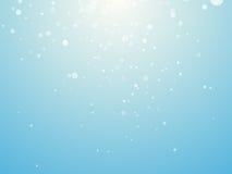 Hellblauer Hintergrund mit Schneeflocken lizenzfreie abbildung