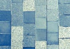 Hellblauer Marmor deckt Beschaffenheit mit Ziegeln Lizenzfreie Stockbilder