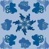 Hellblauer moderner Satz des abstrakten Symbols des Musters lizenzfreie abbildung