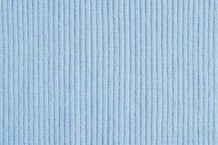 Hellblauer Strickgarnbeschaffenheitshintergrund lizenzfreie stockbilder