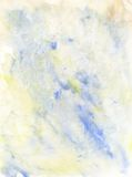 Hellblauer und gelber Aquarell-Hintergrund Stockbild