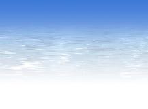 Hellblauer Wasserhintergrund - Kristall - freies Wasser Stockfoto