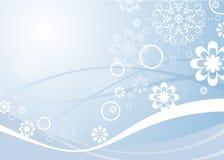 Hellblauer Weihnachtshintergrund Lizenzfreies Stockfoto