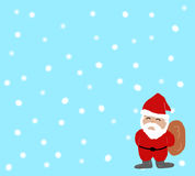Hellblauer Weihnachtshintergrund Stockbilder