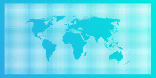 Hellblauer Weltkartehintergrund Lizenzfreies Stockfoto