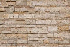 Hellbraune Backsteinmauer gemasert Stockfotografie