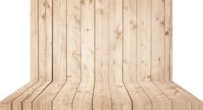 Hellbraune hölzerne Wandbeschaffenheit mit alter Kiefer, Tannenboden Stockbilder
