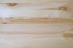 Hellbraune Naturholz-Planke mit schönem Muster, Draufsicht der Tischplatte lizenzfreies stockbild