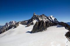 Hellbronner poitsikt - Mont Blanc Arkivfoto