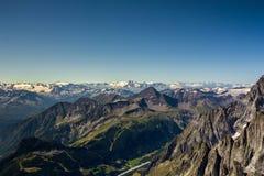 Hellbronner poitsikt - Mont Blanc Fotografering för Bildbyråer