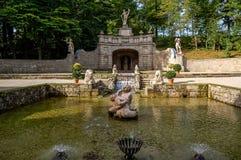 Hellbrunn slott Arkivfoto