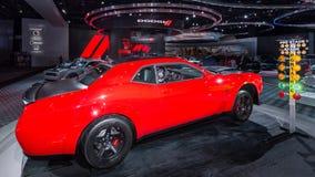 2018 Hellcat du challengeur SRT de Dodge Image libre de droits