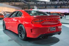 Hellcat för Dodge uppladdare SRT på skärm Arkivbild