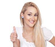 Helle Abbildung der blonden Frau Stockfotografie